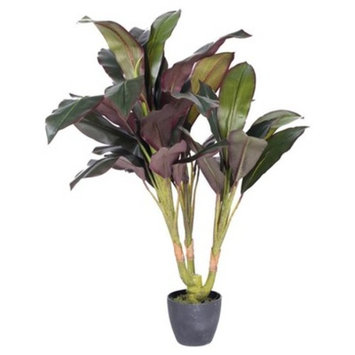 Artificial Real Touch Dracaena in Pot Green 2.5ft - Vickerman®