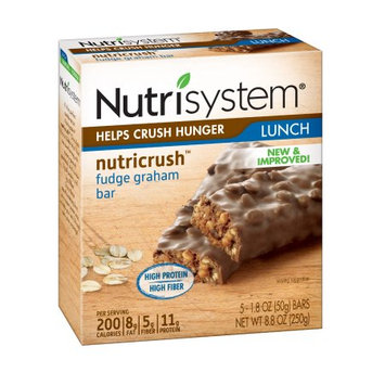Nutrisystem Nutricrush Fudge Graham Bars, 1.8 oz, 5 Count