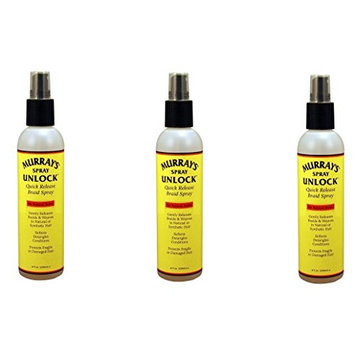 [VALUE PACK OF 3] MURRAY'S SPRAY UNLOCK QUICK BRAIDS 8oz [PACKAGE'S LOOK VARIES] : Beauty