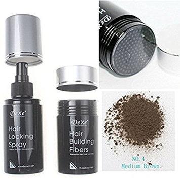 Dexe Hair Building Fibers 22g & Hair Locking Spray 100ml Set
