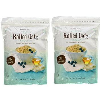 Trader Joe's Whole Grain, Gluten Free Rolled Oats - Two 32 oz. Bags