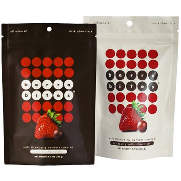 Mixed pack- Soft strawberry centers covered in Milk chocolate and Dark chocolate - Berra Bites