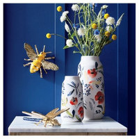 Blue Ceramic Candle (6.5oz) - Heirloom Bouquet