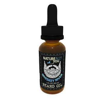 NATUREALLY YOU© - Beard Oil - Whiskey River - (1 oz) - Moisturize Skin, Stimulate Growth, Make Hair Softer, Smooth, No Left Over Residue, Eliminate Itchy Skin, Treat Split Ends
