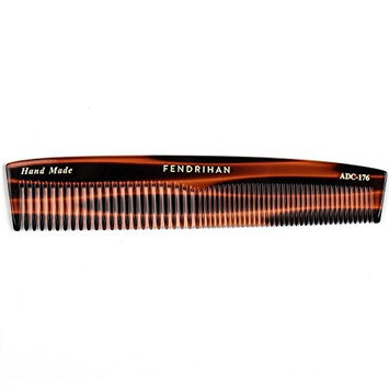 Fendrihan Hand Finished Double Tooth Comb for Men, Faux Tortoise (6.7 Inches)