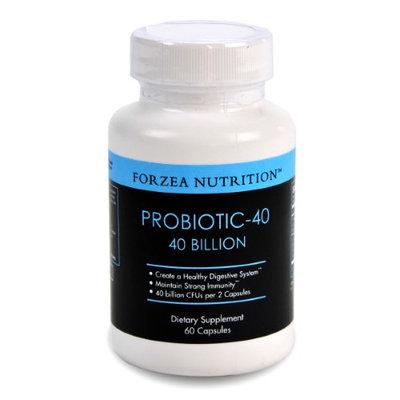 Forzea Nutrition Forzea Probiotic-40 40 Billion CFUs, Multiple Strains of Probiotics, - 60 Capsules