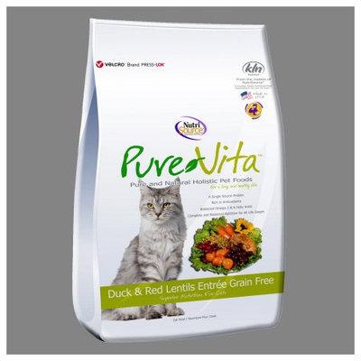 PureVita Duck & Red Lentils Entrée Adult Dry Cat Food, 15 Lb