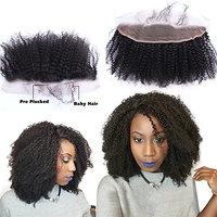 Nicewig 4b 4c Afro Kinky Curly Human Hair Lace Frontal Closure 14