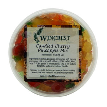 Wincrest Bulkfoods Candied Cherry Pineapple Fruit Mix ~ 1 Pound Tub