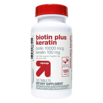 Biotin with Keratin Dietary Supplement Tablets - 120ct - Up&Up™