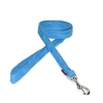 Dogline M8061-2 6 ft. L x 0. 63 W inch Comfort Microfiber Dog Leash, Blue