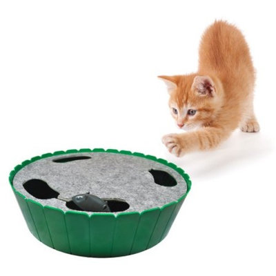 Purrfect Feline-Premium Interactive Cat Toy, Burrow Mouse, Hide & Seek Game, Twitch & Flee, Electronic Exerciser, Teaser, Safe, Quiet Track Technology, Active Healthy Lifestyle for Cats