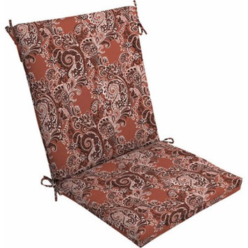 Mainstays Outdoor Dining Chair Cushion, Red Bandana