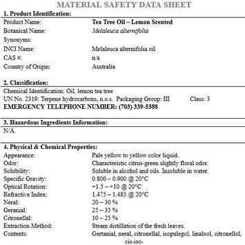 Greenhealth Tea Tree – 4 fl oz (118 ml) Glass Bottle w/Cap – 100% Pure Essential Oil
