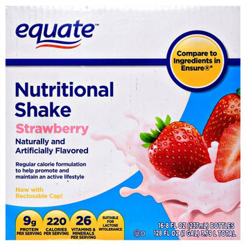 Wal-mart Stores, Inc. Equate Nutritional Shake, Strawberry, 16 count, 128 fl oz