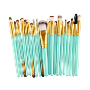 20 Pieces Makeup Brush Set, Staron Makeup Brushes Kit Cosmetics Foundation Wood Handle Premium Make Up Brushes Toiletry Kit Blending Blush Eyeshadow Eyeliner Face Powder Makeup Brush Set (G