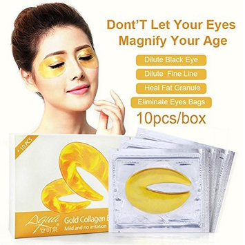 JaneDream 10pcs/Box Anti-Aging Gold Crystal Collagen Eye Mask Skin Care Anti Dark Circle Anti-Puffiness Moisturizing