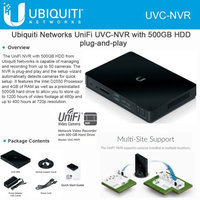 Ubiquiti Networks Network Video Recorder with 500GB Hard Drive UVC NVR
