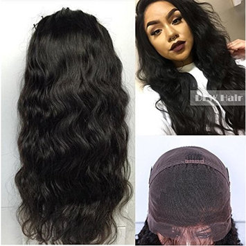 Glueless Brazilian Hair Body Wave Lace Front Human Hair Wig for Black Women Natural Hairline 18inch