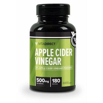 VitaDirect Premium Raw Apple Cider Vinegar Pills, 500mg, 240 Vegetarian Pills, High Quality Supplements, Made in The USA