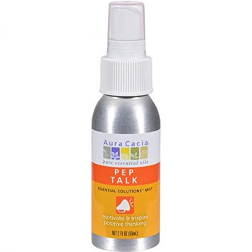 Aura Cacia Essential Solutions Mist, Pep Talk, 2 Fluid Ounce by Aura Cacia