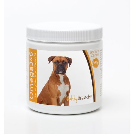 Healthy Breeds 840235142447 Boxer Omega 3 & 6 Soft Chews - 60 count