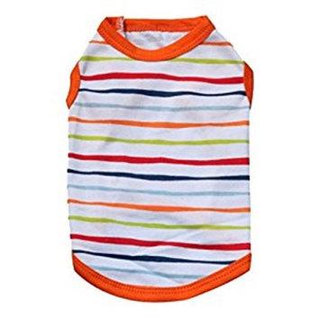 haoricu Pet Clothes, Striped Cotton Stretch Vest Dog Pet Clothes for Small Coat Dog Vest