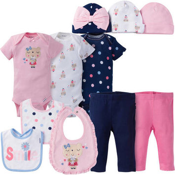 born Baby Girl Perfect Baby Shower Gift Layette Set, 11-Piece