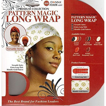 6PCS OF DONNA PREMIUM COLLECTION PATTERN MAGIC LONG WRAP VERSATILE STYLES #11038