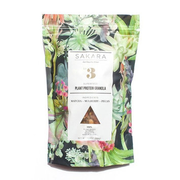 Sakara Plant Protein Superfood Grain-Free Granola with Matcha and Mulberries, 11.5oz bag [Plant Protein]