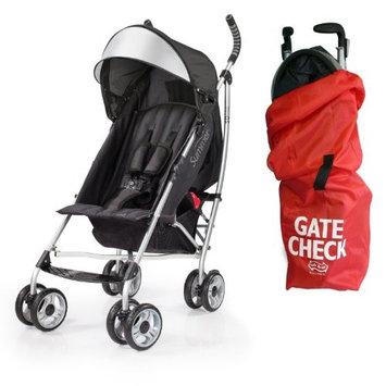 Summer Infant 3D Lite Convenience Stroller with Airport Gate Check Travel Bag, Black [Black]