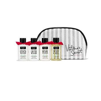 Victoria's Secret Verbena 4 piece Travel Set Smoothing Scrub Wash, Ultrarich Cream Wash, Hydrating Body Lotion, Weightless Body Oil