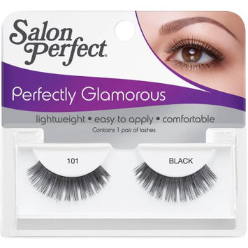 American International Ind Salon Perfect Perfectly Glamorous False Lashes, 101 Black