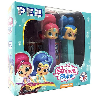 Pez Candy Nickelodeon Shimmer and Shine Gift Set - 2 Pez Dispensers and 6 Rolls of Pez Candy