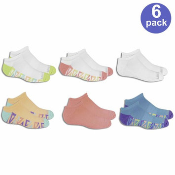 Everyday Active Cushion No Show Socks with Arch Support, 6 Pairs (Big Girls)