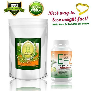 Garcinia Cambogia Weight Loss Supplement with Garcinia Cambogia Extract. Effective Diet Pills and Diet Tea. E-Z Appetite Suppressant and Fat Burner Combo