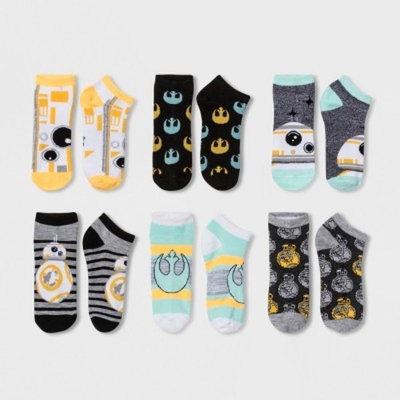 Women's 6pk Low Cut Star Wars BB-8 Casual Socks - 9-11