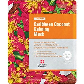 [LEADERS] 7 WONDERS Caribbean Coconut Calming / Premium Grade Coconut Gel Mask (Bio Cellulose) / 1 BOX (10 Sheet Masks): Cell Phones & Accessories
