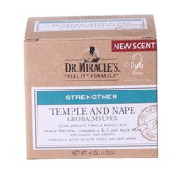 Dr. Miracle's Strengthen Temple & Nape Gro Balm Super Strength, 4 oz by Dr. Miracle's