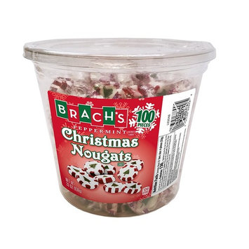 Brach's Christmas Nougats Candy, Peppermint, 100 Count
