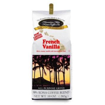 Hawaiian Isles Kona Coffee French Vanilla Medium Roast Ground Coffee - 10oz