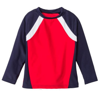 Circo Infant & Toddler Boys Red White & Blue Rash Guard Swim Shirt