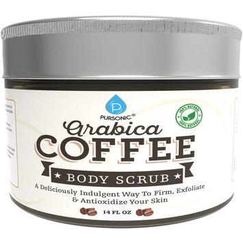 Pursonic Aribica Coffee Body Scrub, 14 fl oz