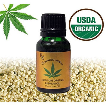 Earth Natural Botanical 100% PURE ORGANIC HEMP SEED (Unrefined) Cannabis sativa Kosher & Carrier oil | 15mL (.51 fl oz) Glass Bottle w/Euro + glass dropper