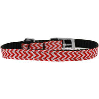 Mirage 126-260 38RD8 Chevrons Nylon Dog Collar w/Classic Buckle 0.375