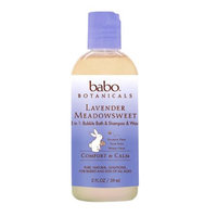 Babo Botanicals Bubble Bath - 3 in 1 Calming Shampoo Bubble Bath and Wash - Lave