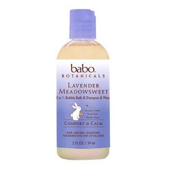Babo Botanicals Bubble Bath - 3 in 1 Calming Shampoo Bubble Bath and Wash - Lave