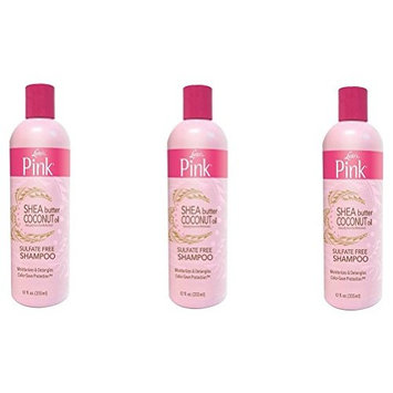 [VALUE PACK OF 3] LUSTER'S PINK SHEA BUTTER COCONUT OIL SHAMPOO NO SULFATE 12oz : Beauty