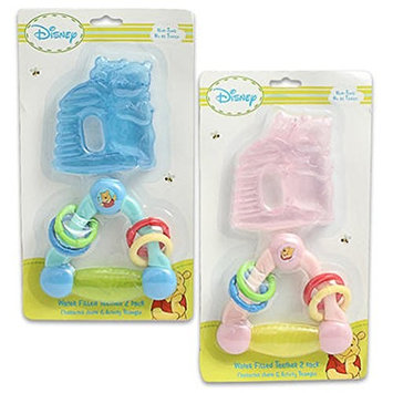 Disney Winnie The Pooh Triangle and HoneyPot Water Filled Teether Ring (2 Pack)
