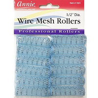 Annie Wire Mesh Rollers #1021, 12 Count Blue X-Small 1/2 Inch